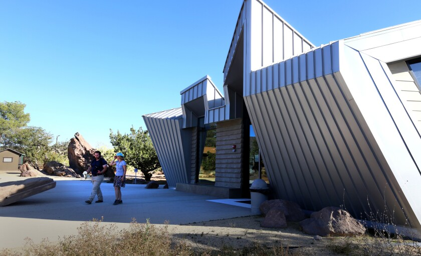 The Interpretive Center, off the main parking lot, by the entrance to Vasquez Rocks Natural Area Park.