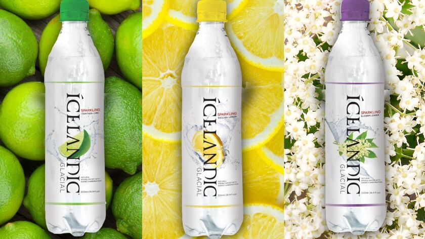 Sparkling waters in flavors like Tahitian Lime from Icelandic Glacial. Credit: Icelandic Glacial