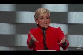 Former governor of Michigan Jennifer Granholm speaks at the Democratic National Convention