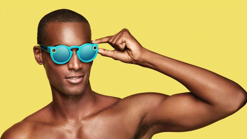 Spectacles sunglasses connect to Snapchat and record video.