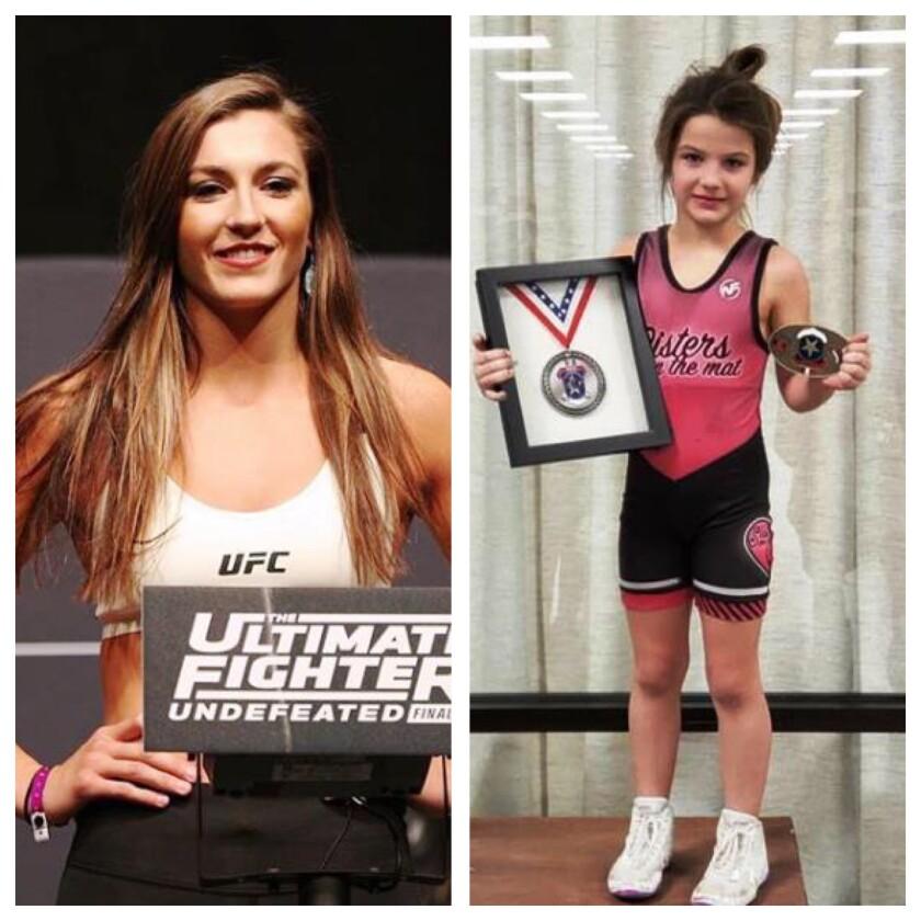 Montana debutó en The Ultimate Fighter, mientras cuidaba de Zaylyn, quien ahora es una campeona estatal de lucha.