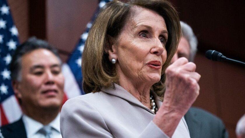 Pelosi speaks on climate change on Capitol Hill, Washington, USA - 27 Mar 2019