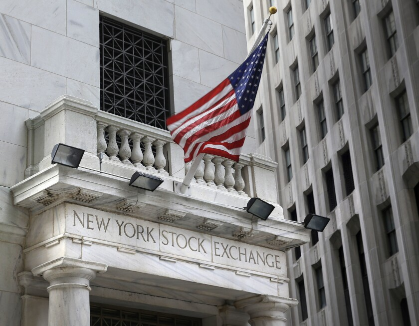 This 2015 file photo shows the New York Stock Exchange.