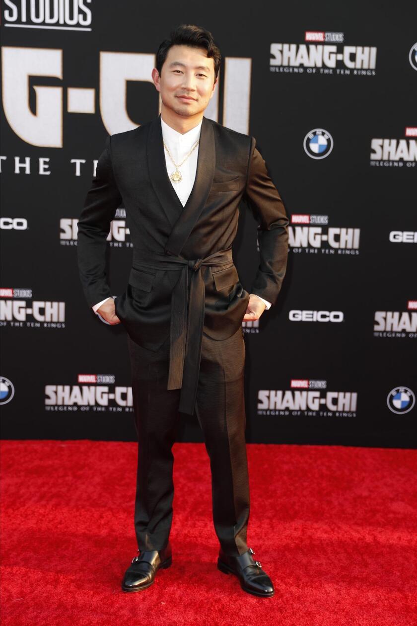 El actor Simu Liu en premier de 'Shang-Chi and the Legend of the Ten Rings'.