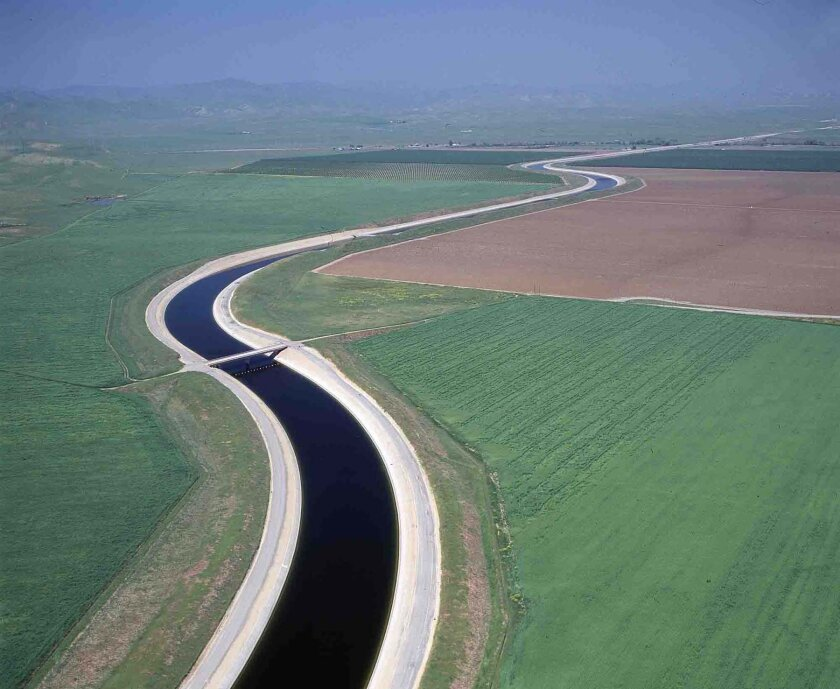 The California aqueduct brings water to the county