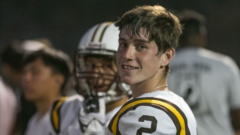 Serra quarterback Timmy Zebroski tossed six touchdown passes last week in a game shortened by lightning.