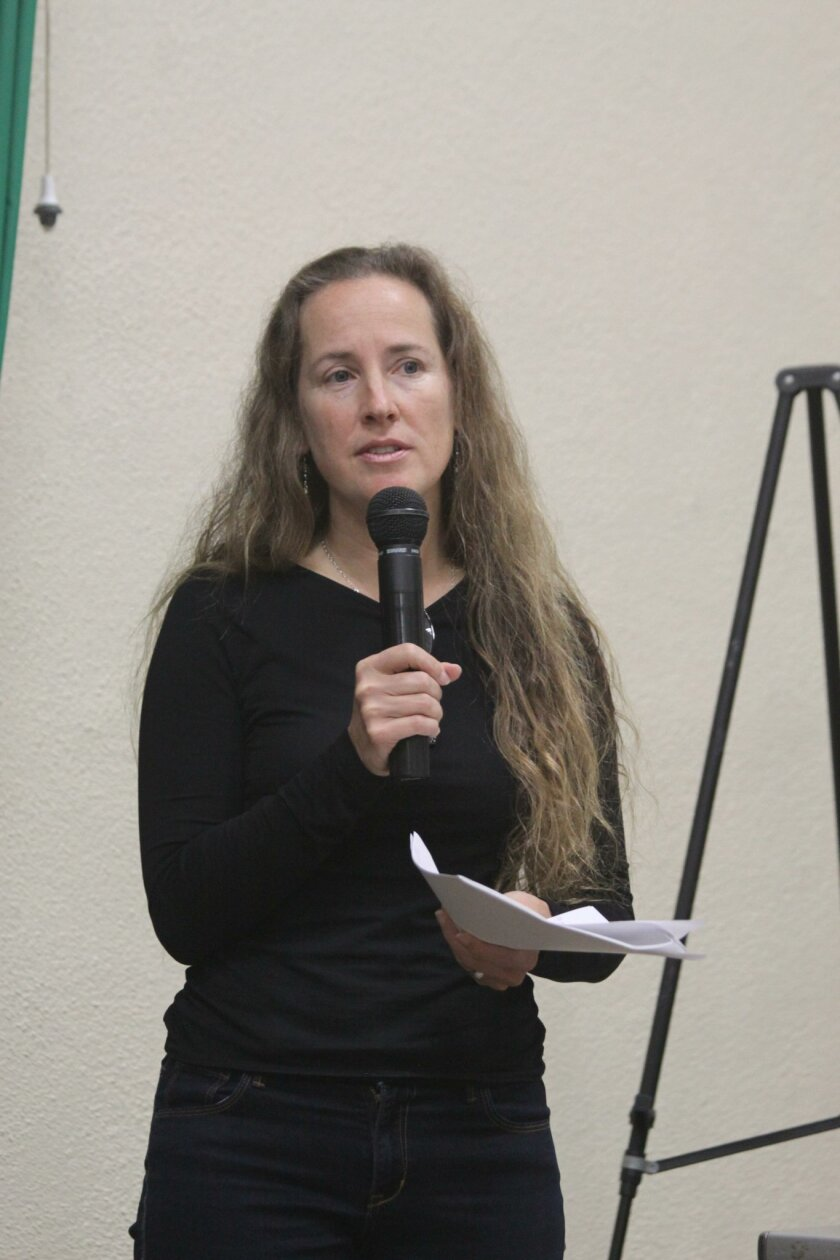 Chair Sharon Wampler of the La Jolla Planning Association's ad-hoc committee on residential single-family zoning (aka mansionization)