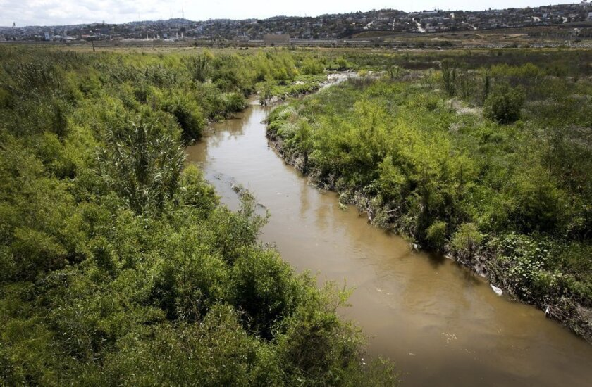 The Tijuana River, following a major sewage spill in 2012.