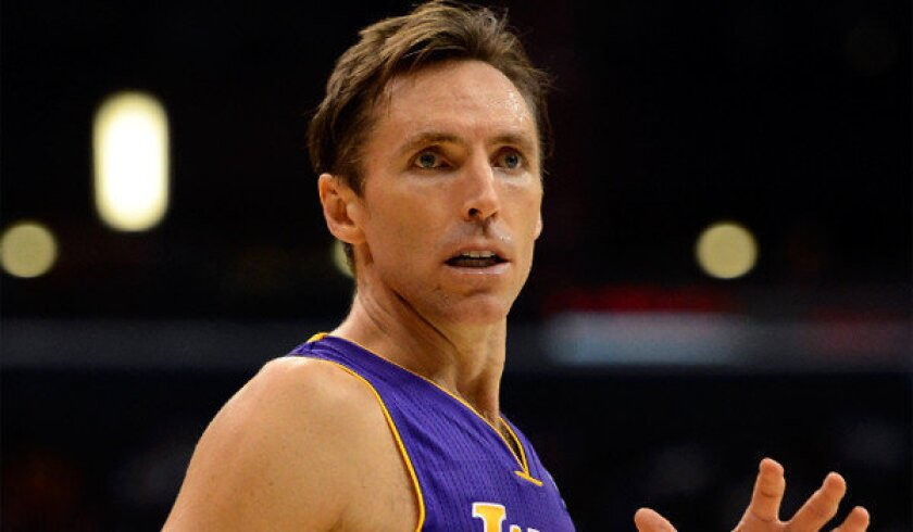 """Steve Nash, who turns 39 in February, says he's """"incredibly optimistic and inspired"""" by the Lakers' chances once he returns from injury."""