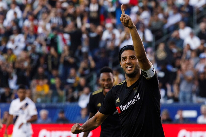 LAFC forward Carlos Vela scored his MLS-leading 24th goal of the season in the team's win over Real Salt Lake.
