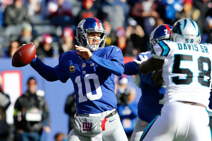 Eli Manning and the Giants have twice beaten the Packers in Green Bay during a run to the Super Bowl.
