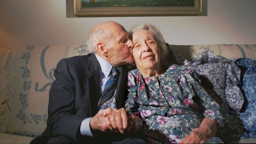 George and Gaynel Couron earned a spot in the record books after 80 years of marriage. New research suggests that a long marriage may reduce the risk of dementia for both the bride and the groom.