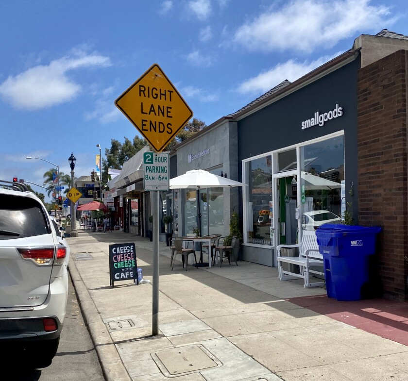 The La Jolla Traffic & Transportation board voted to approve converting this 2-hour parking space into a 15-minute spot.
