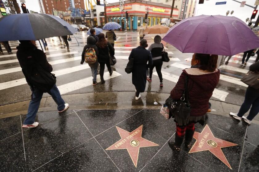 Rain in Hollywood