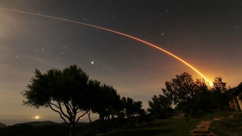 GAVIOTA, CA – May 5, 2018: NASA InSight mission to Mars launched pre-dawn May 5, 2018 on a United