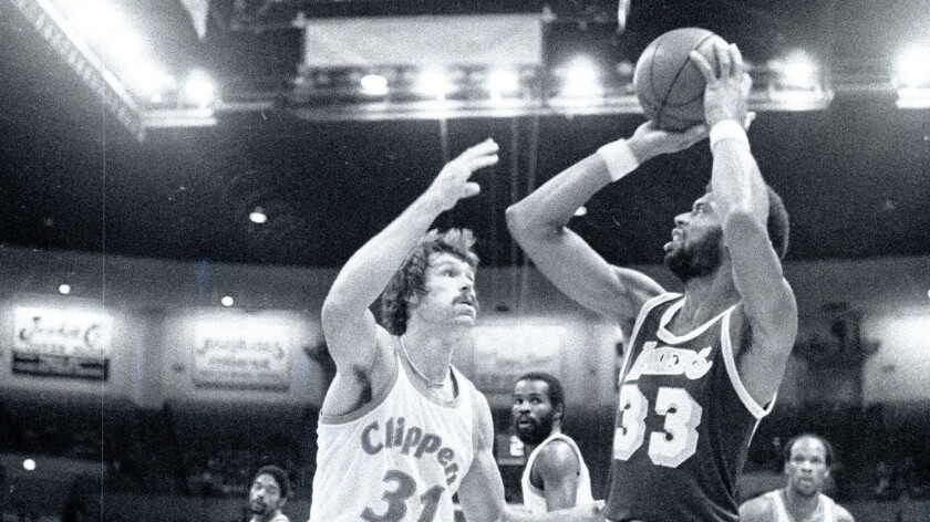 Season opener Los Angeles Lakers and the San Diego Clippers, 10/12/1979 - photo Jerry Rife