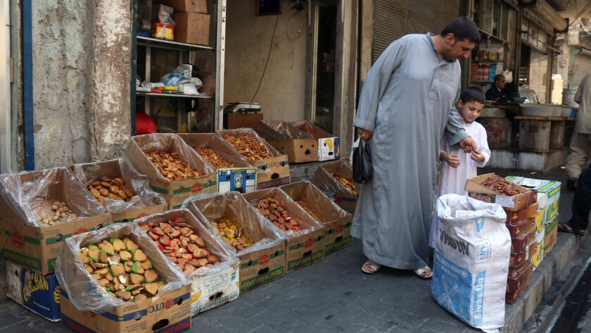 Opposition-held market in Aleppo