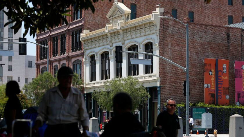 Officials moved the entryway of La Plaza de Cultura y Artes from the side of the building to North M