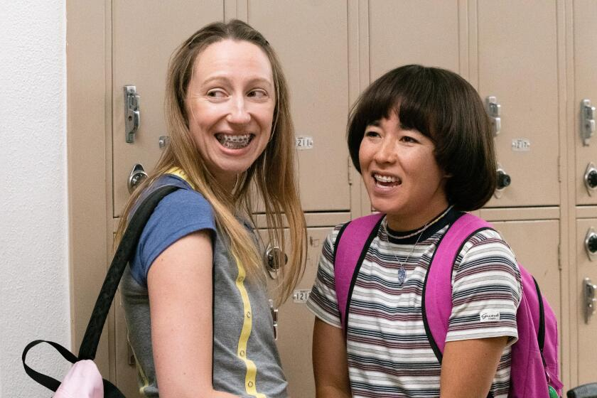 """Anna Konkle, left as Anna Kone and Maya Erskine as Maya Ishii-Peters in a scene from """"PEN15."""""""
