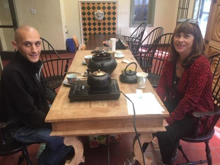 Greg Anthony and Maryanne Miller recently founded the World Tea Enthusiasts club, which meets Sunday afternoons at La Jolla Library.