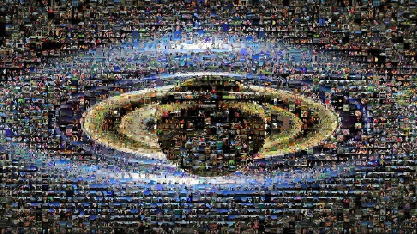 A photo collage of about 1,600 images submitted by people in 40 nations and 30 U.S. states on July 1