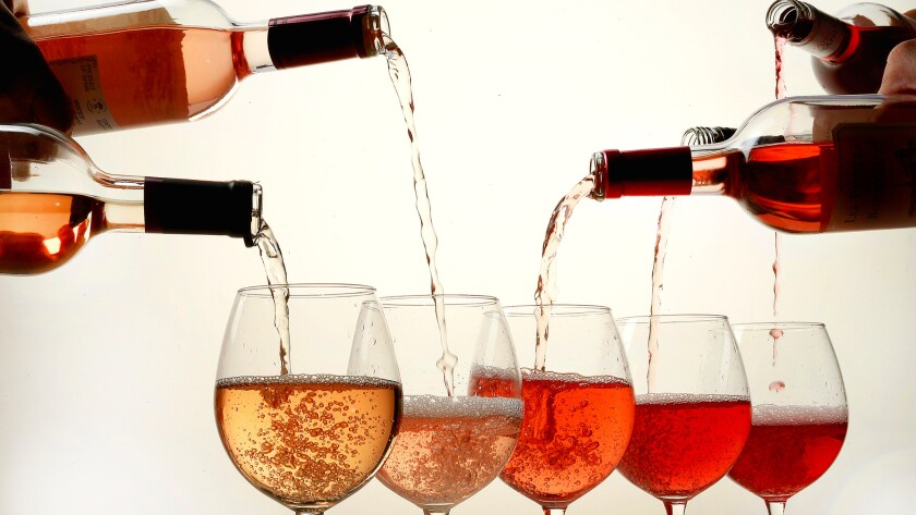 A rosé is a type of wine that incorporates some of the color from the grape skins, but not enough to qualify it as a red wine.