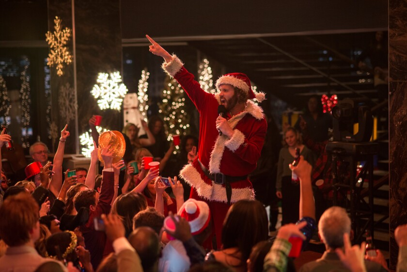 "T.J. Miller as Clay Vanstone in ""Office Christmas Party"""