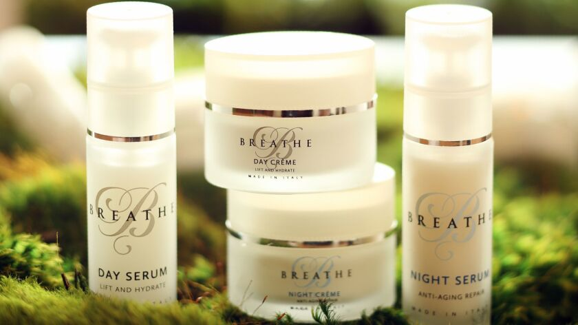 The Breathe skincare range.