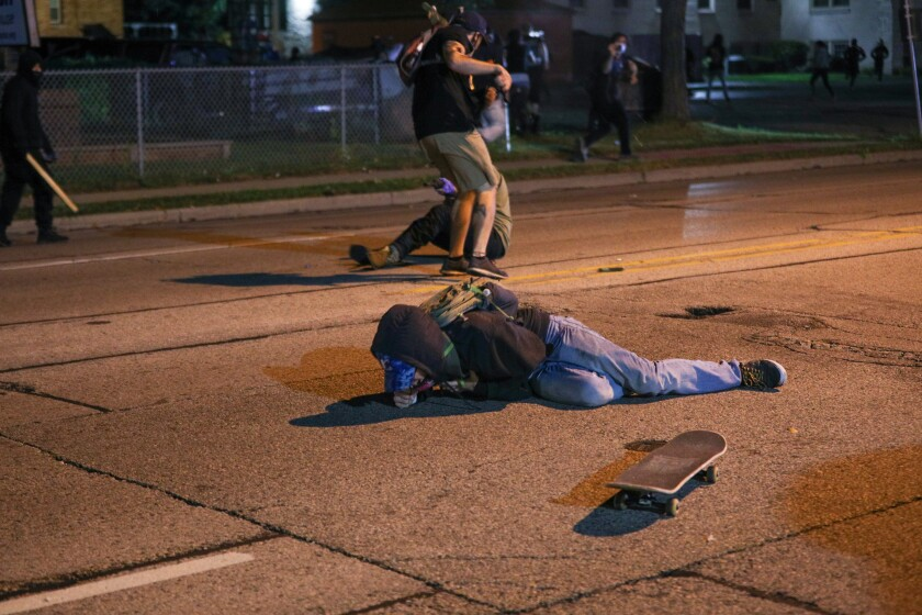 A protester who was shot in Kenosha, Wis.