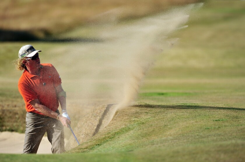 At British Open, Miguel Angel Jimenez of Spain keeps things lively
