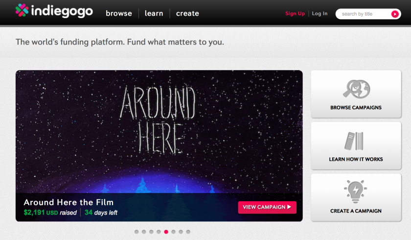 Crowdfunding website Indiegogo raises $40 million of its own