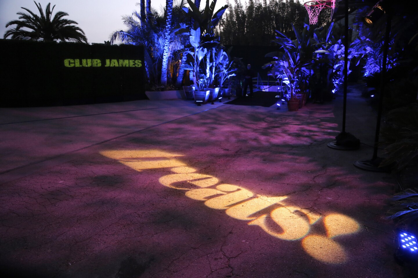 Lights helped to announce the Treats! party scene as guests arrived at the yet-to-be-opened Club James in Beverly Hills.