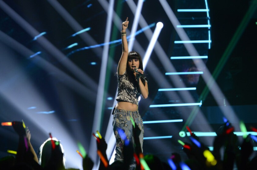 """Jena Irene performs the song """"Clarity"""" on """"American Idol."""""""