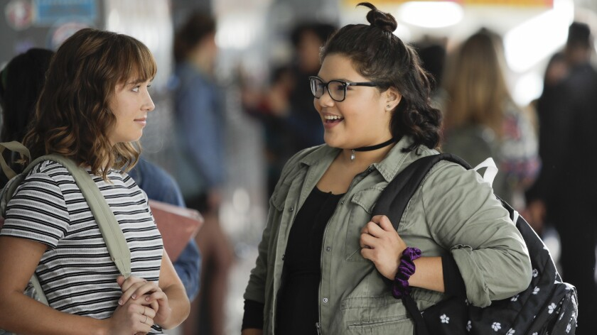 """Madelyn Sher, left, and Belissa Escobedo in a new episode of """"The Baker and the Beauty"""" on ABC."""