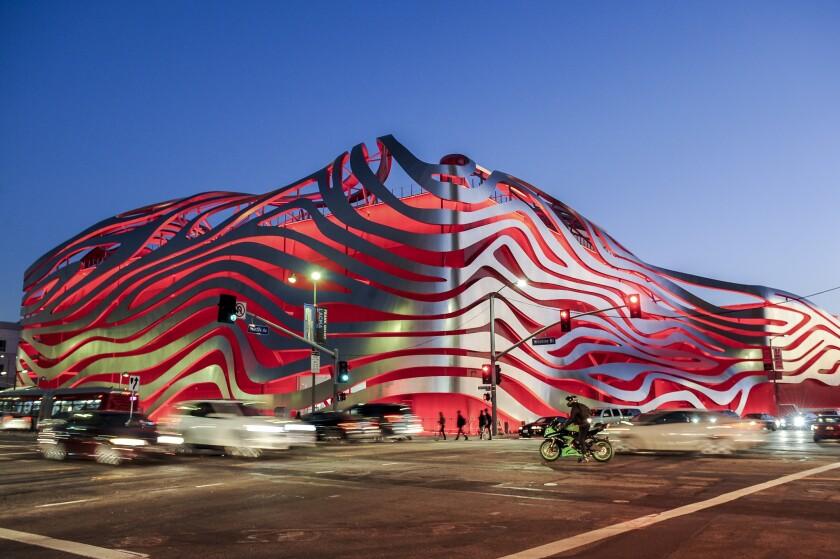 The Petersen Automotive Museum on Wilshire Boulevard in Los Angeles