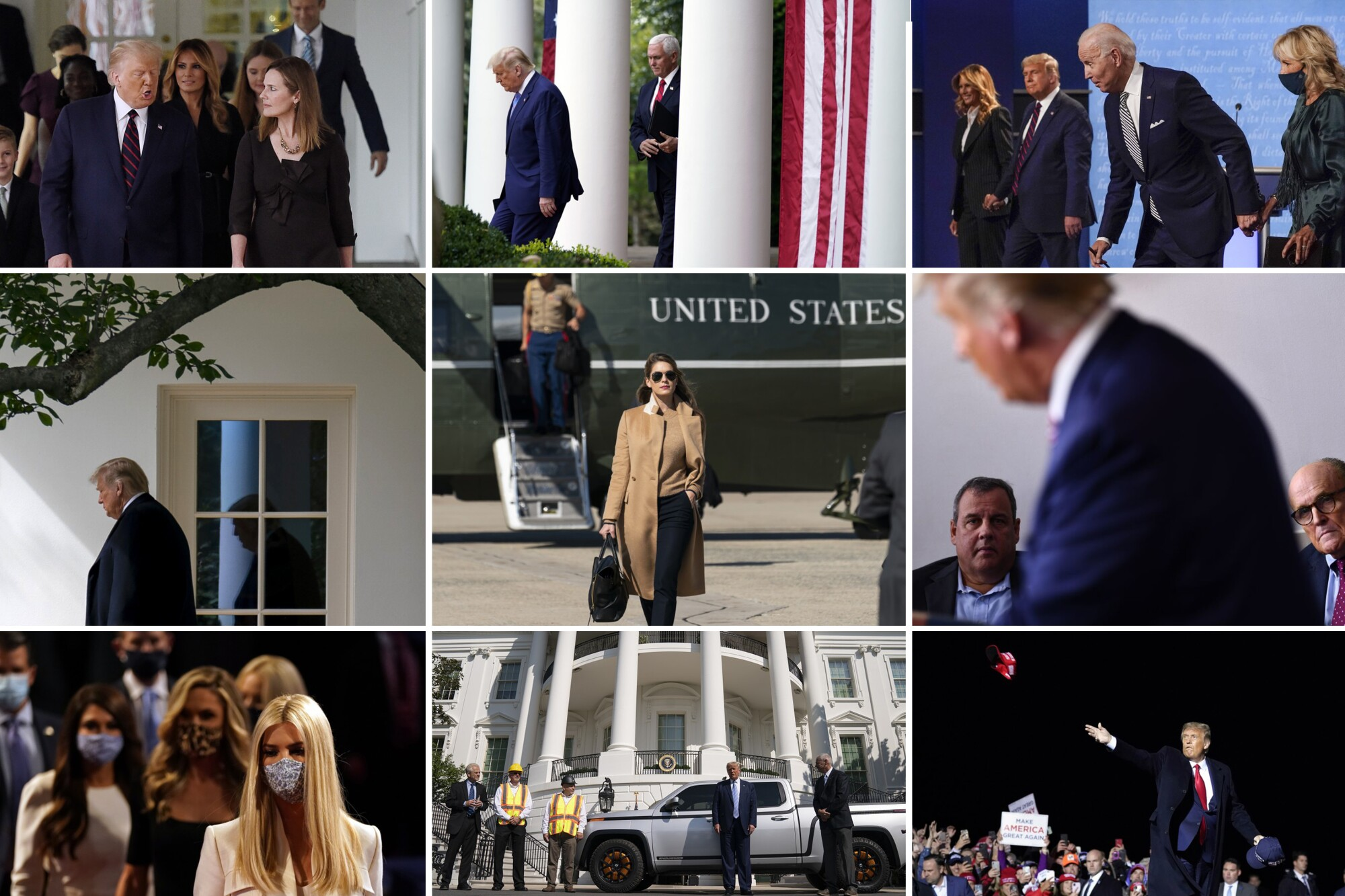 Timeline of President Trump's appearances over the last week
