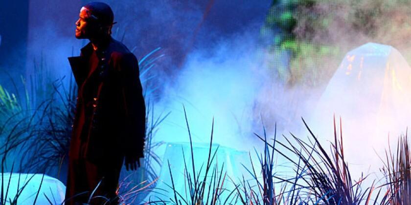 Singer Frank Ocean performs at the MTV Video Music Awards at Staples Center on Thursday.
