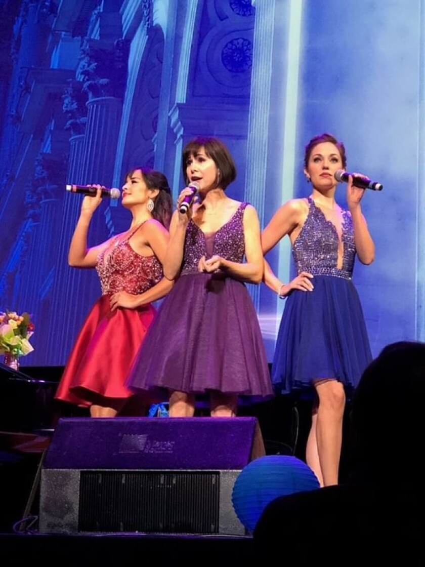 "Courtney Reed, Susan Egan and Laura Osnes in ""Broadway Princess Party."""