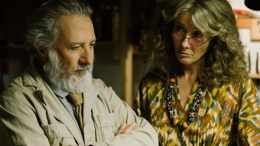 """Dustin Hoffman and Emma Thompson in """"The Meyerowitz Stories."""""""