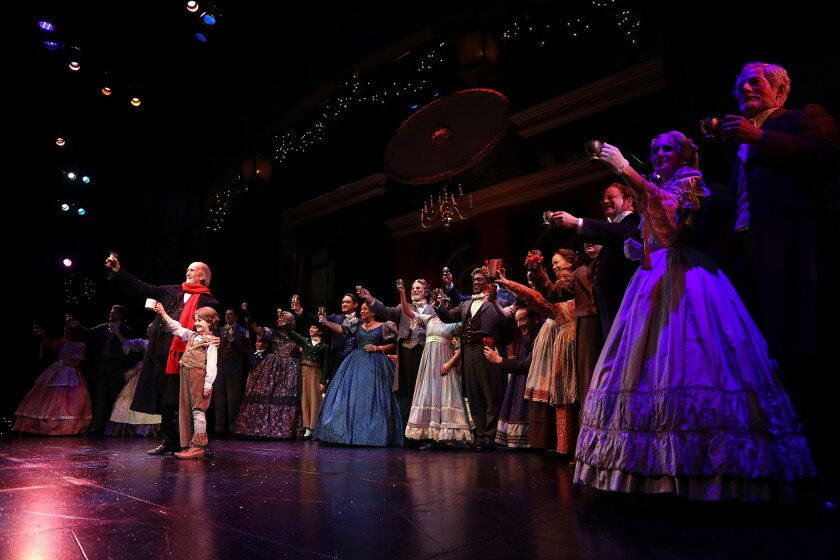 Hal Landon Jr. again leads the massive cast of South Coast Repertory's annual production.