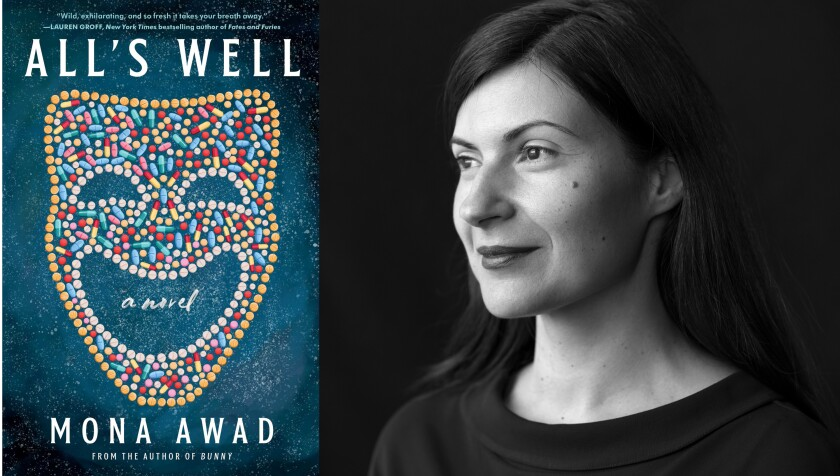 """Author Mona Awad says her new novel, """"All's Well,"""" """"just sort of unfolded"""" during her stay in La Jolla."""
