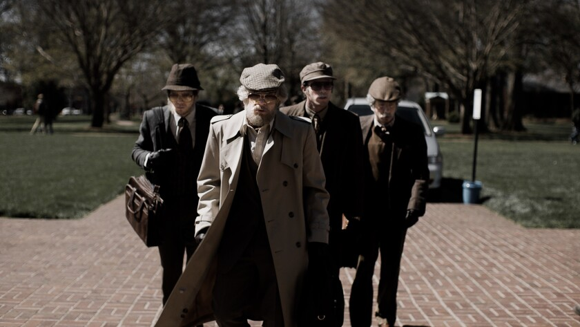 Jared Abrahamson, Evan Peters, Blake Jenner and Barry Keoghan appear in <i>American Animals</i> by B