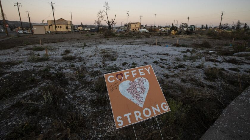 SANTA ROSA, CALIF. -- WEDNESDAY, OCTOBER 10, 2018: A sign where a home once stood on Scarlett Place