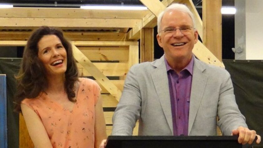 Edie Brickell and Steve Martin talk to the media about their new musical, 'Bright Star,' at The Old Globe Theatre in San Diego's Balboa Park.