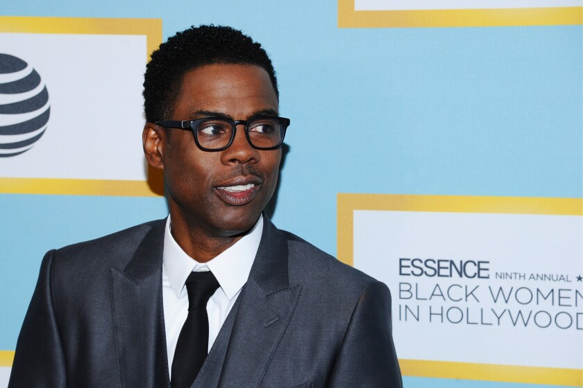 Chris Rock, seen at the Essence 9th Annual Black Women in Hollywood luncheon on Thursday, has been testing his Oscar material at comedy clubs in L.A. this week.
