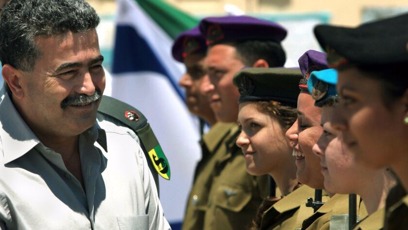 A 2006 file photo of Amir Peretz, then Israel's defense minister.