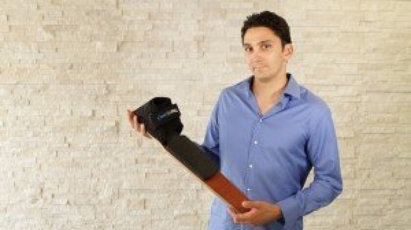 Rancho Santa Fe native Nic Bartolotta invented the DCT ProFlex, a health and fitness tool. Courtesy photos