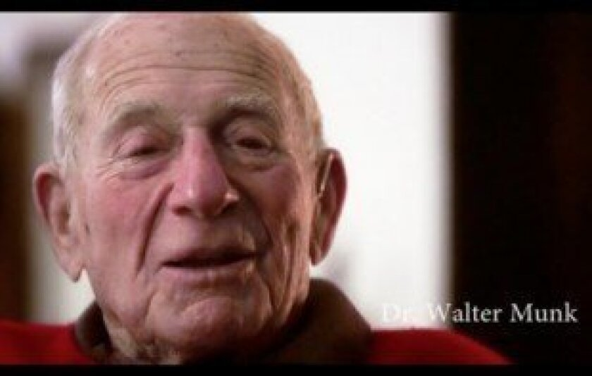 Pioneering Scripps Institution of Oceanography researcher Walter Munk is one of the film's many interview subjects who share their love and concern for the ocean in 'What the Sea Gives Me.' Courtesy
