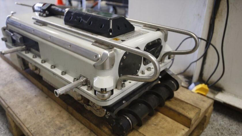 The Stingray is a robot designed to inspect fuel tanks.