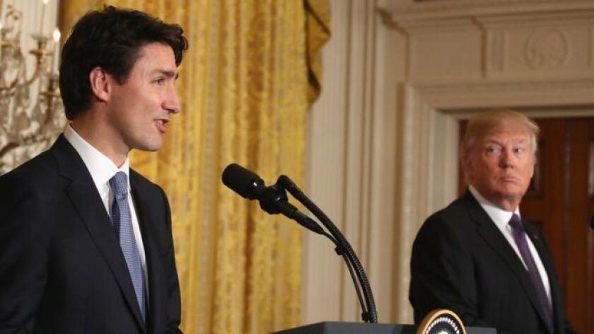 Trump y Trudeau se reunieron en la Casa Blanca.